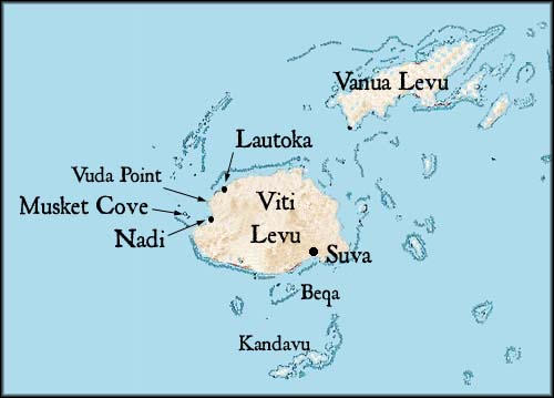 Map of Portions of Fiji
