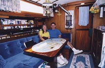 Jen and Steve in the Galley